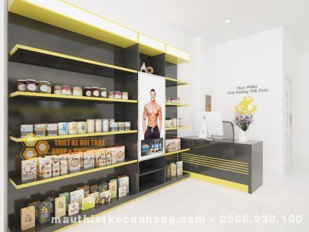 Thiết kế cửa hàng thực phẩm chức năng 20m2 ở Hà Nội nhỏ gọn, bố trí hợp lý