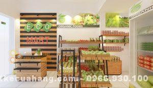 Thiết kế shop thực phẩm sạch 40m2 hình thức đẹp nổi bật tại Hà Nội