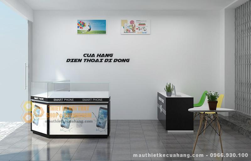 Thiết kế cửa hàng điện thoại nhỏ diện tích 20m2 tại Hà Nội