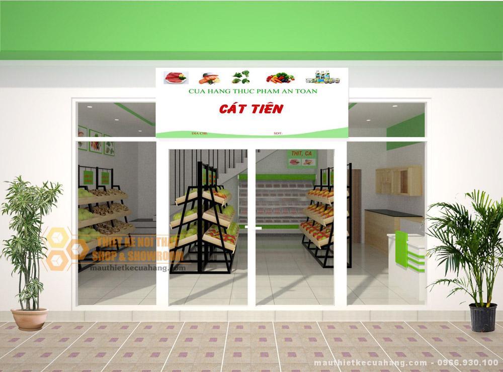 Thiết kế cửa hàng hoa quả sạch tại Hà Nội 30m2