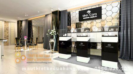 Thiết kế showroom nữ trang 80m2 tại HN đẹp tinh tế và đẳng cấp