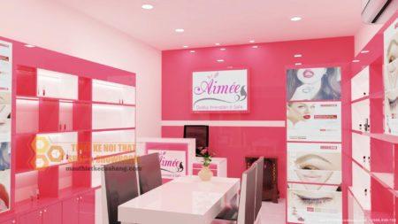 Tham khảo mẫu nội thất shop mỹ phẩm AiMee 22m2