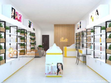 Thiết kế shop mỹ phẩm 40m2 độc đáo thu thút khách hàng