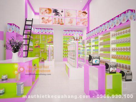 Thiết kế shop đồ mẹ và bé 30m2 tại Thái Nguyên đẹp tinh tế và sang trọng