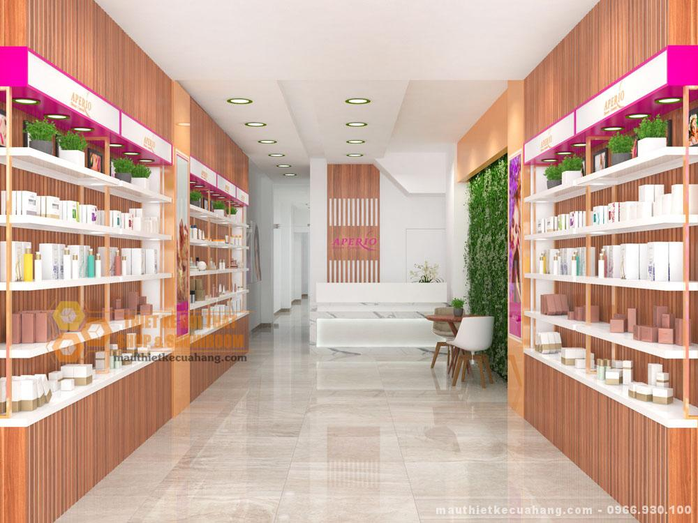 Thiết kế cửa hàng mỹ phẩm 40m2 cuốn hút với không gian đẹp đắt khách