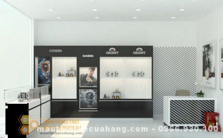 Thiết kế cửa hàng đồng hồ 15m2 DIỆN TÍCH NHỎ hợp lý nhất