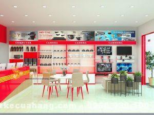 Thiết kế shop điện thoại đẹp hiện đại tại Hà Nội 50m2