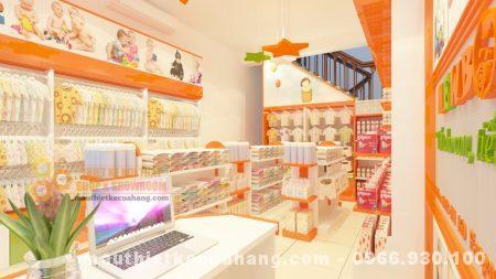 Thiết kế nội thất shop mẹ và bé 40m2 ở Bắc Giang hiện đại và cuốn hút