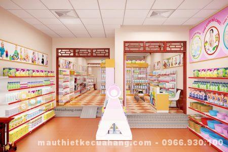 Thiết kế cửa hàng mẹ và bé 60m2 tại Hà Nội với màu sắc dễ thương