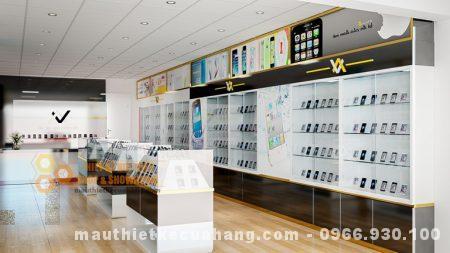 Mẫu thiết kế shop điện thoại 60m2 tại Hà Nội