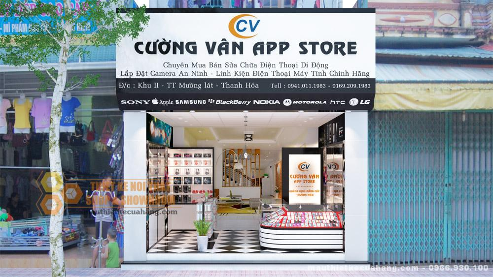 Thiết kế shop điện thoại 20m2 tại Thanh Hóa
