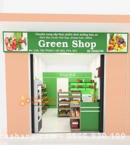 Thiết kế cửa hàng rau sạch Green Shop 25m2