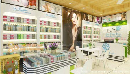 Nội thất cửa hàng mỹ phẩm sang trọng 30m2 tại Thanh Hóa