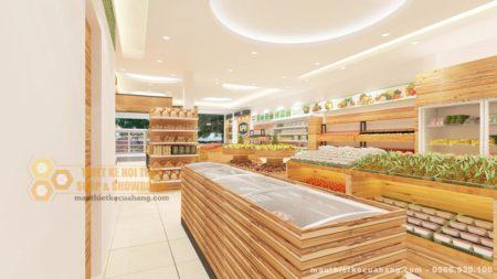 Mẫu cửa hàng thực phẩm sạch ở Hà Nam diện tích 50m2