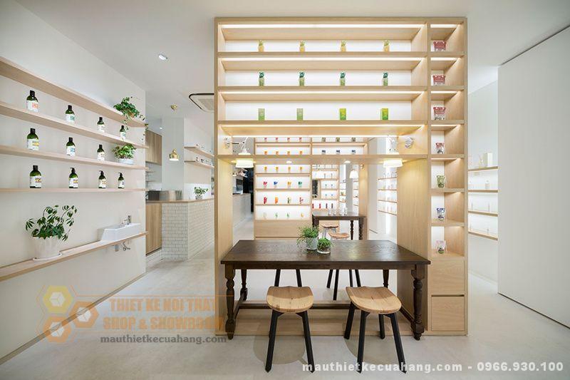 Thiết kế shop mỹ phẩm 45m2 tại Hà Nội, nổi bật và lôi cuốn khách hàng
