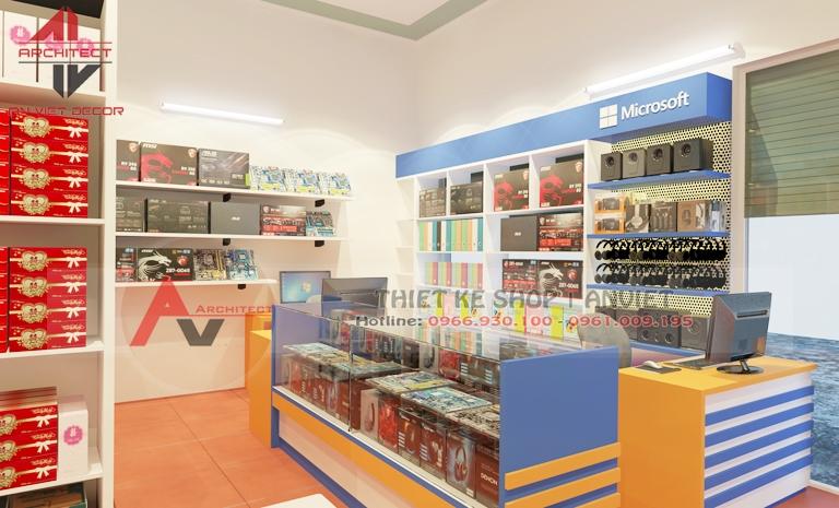 Nội thất shop điện thoại 40m2 ĐẸP ẤN TƯỢNG ở Quảng Ninh