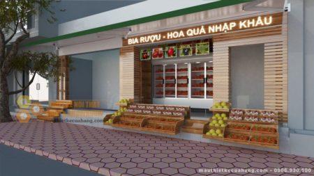 Thiết kế shop hoa quả sạch ba miền diện tích 15m2