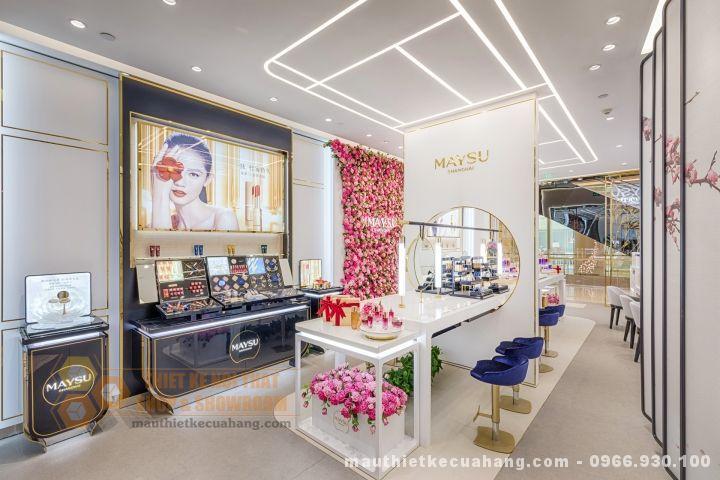 Thiết kế nội thất shop mỹ phẩm sang trọng 60m2 tại Hải Phòng