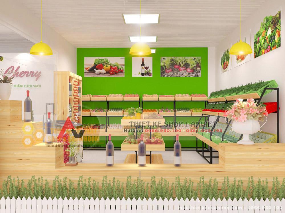 Thiết kế cửa hàng trái cây 46m2 với nét hiện đại thu hút khách hàng