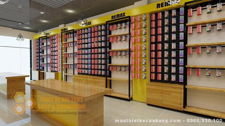 thiet ke shop phu kien dien thoai o thai nguyen 70m2