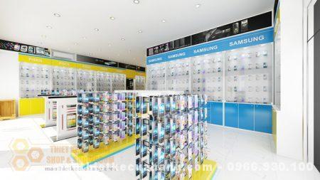 Thiết kế cửa hàng bán PHỤ KIỆN ĐIỆN THOẠI 70m2 ở Thái Nguyên