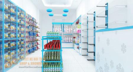 Thiết kế cửa hàng mẹ và bé 40m2 tại Hà Nam