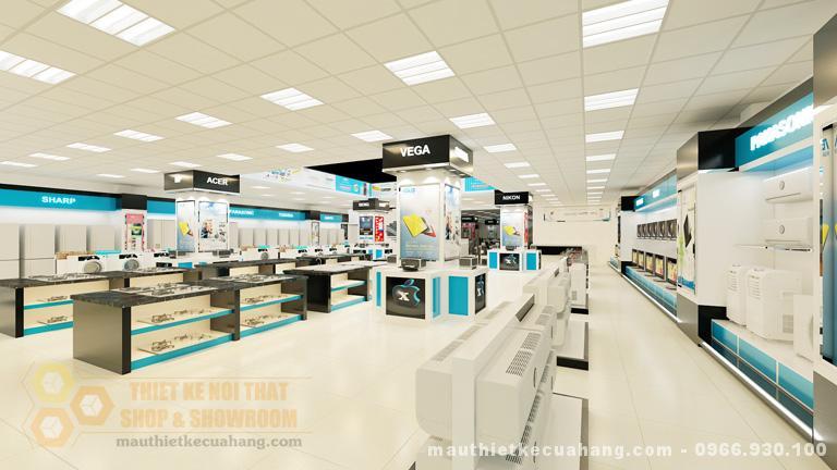 Thiết kế showroom điện thoại ĐẸP và SANG TRỌNG tại Hải Phỏng 180m2