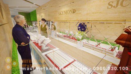 Thiết kế cửa hàng trang sức 55m2 ở bắc giang ĐẸP VÀ ĐỘC ĐÁO