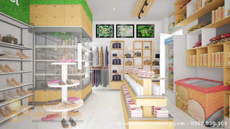 Thiết kế siêu thị mini đẹp, màu sắc nổi bật tại Hà Nội 60m2