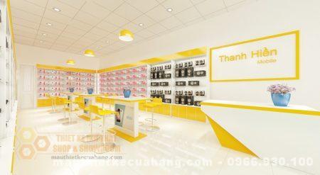 Mẫu nội thất cửa hàng điện thoại ở bắc giang 75m2 THU HÚT khách hàng