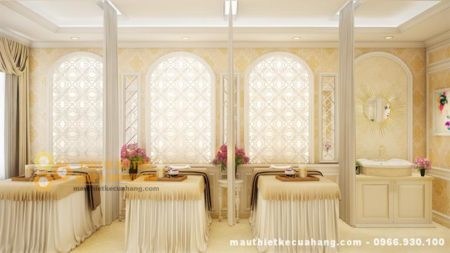 Mẫu thiết kế nội thất spa THU HÚT KHÁCH HÀNG 30m2 tại HN