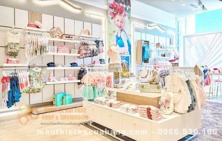 Mẫu thiết kế shop quần áo mẹ và bé CỰC HÚT KHÁCH diện tích 120m2