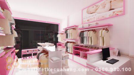 Xu hướng thiết kế shop quần áo mẹ và bé đẹp, ẩn tượng ở Thanh Hóa 45m2