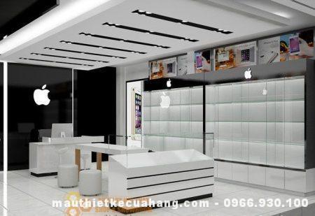 Tại HN, thiết kế cửa hàng điện thoại 25m2 DIỆN TÍCH NHỎ, sắp xếp HỢP LÝ