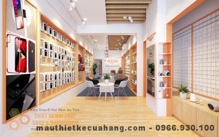 Mẫu thiết kế nội thất shop điện thoại ĐƠN GIẢN, BẮT MẮT tại CG, Hà Nội 60m2