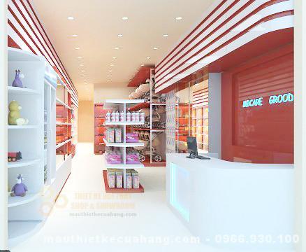 Thiết kế cửa hàng mẹ và bé 55m2 tại Hòa Bình TINH TẾ và THU HÚT