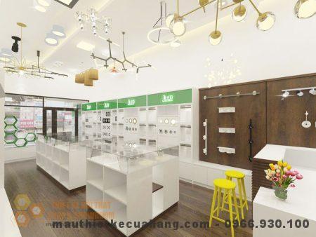 Thiết kế showroom trưng bày đèn Led, diện tích 60m2 Đống Đa, HN