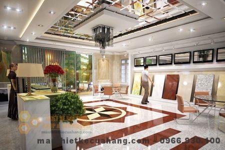 Thiết kế nội thất showroom vlxd 70m2 tại Thanh Trì Hà Nội