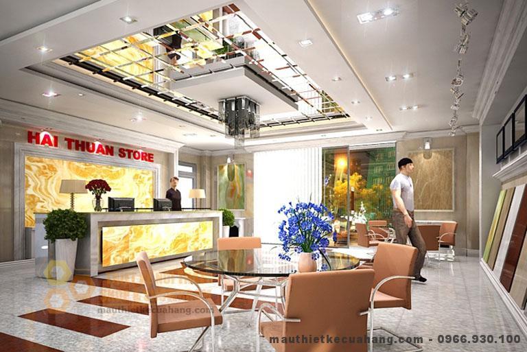 thiet ke showroom vat lieu xay dung 70m2 tai thanh tri ha noi