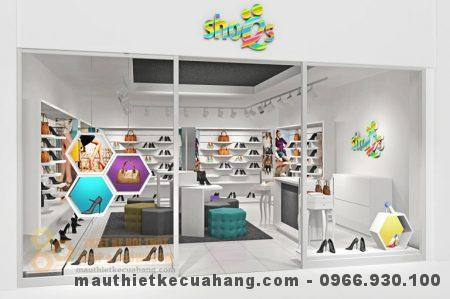 Thiết kế và Thi công nội thất shop giày dép hiện đại 35m2 tại Bắc Ninh