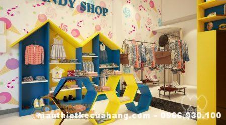 Thiết kế cửa hàng mẹ và bé 35m2 tại Thái Nguyên hiện đại gam màu tươi sáng