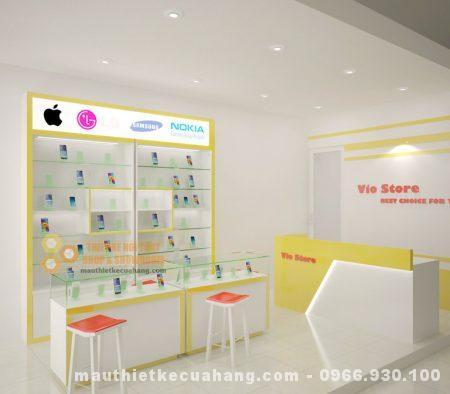 Thiết kế nội thất shop điện thoại ĐƠN GIẢN HIỆN ĐẠI tại bắc Ninh 35m2
