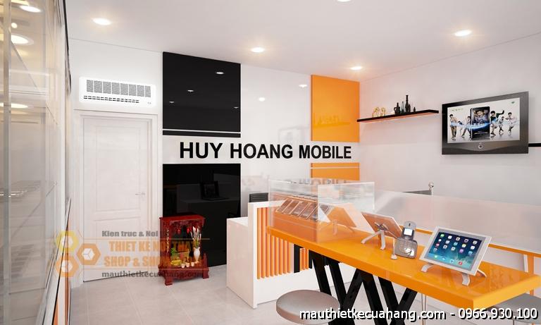 Mẫu shop điện thoại hiện đại 40m2 tại TPHCM