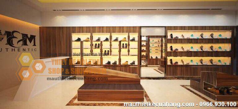 Mẫu shop giày dép sang trọng 45m2 M&M Authentic tại Phú Thọ