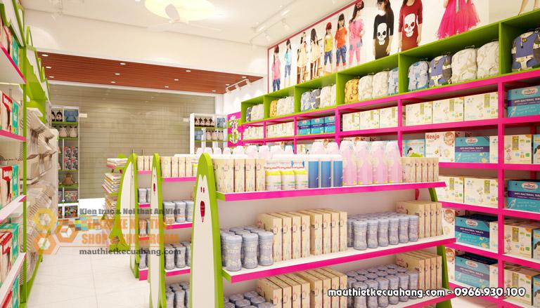 Mẫu thiết kế shop mẹ và bé 50m2 tại Hưng Yên