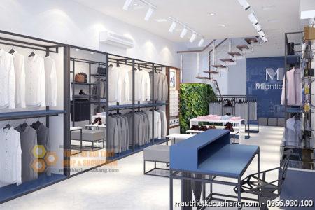 Mẫu thiết kế shop thời trang nam 60m2 Manticano Hà Nội