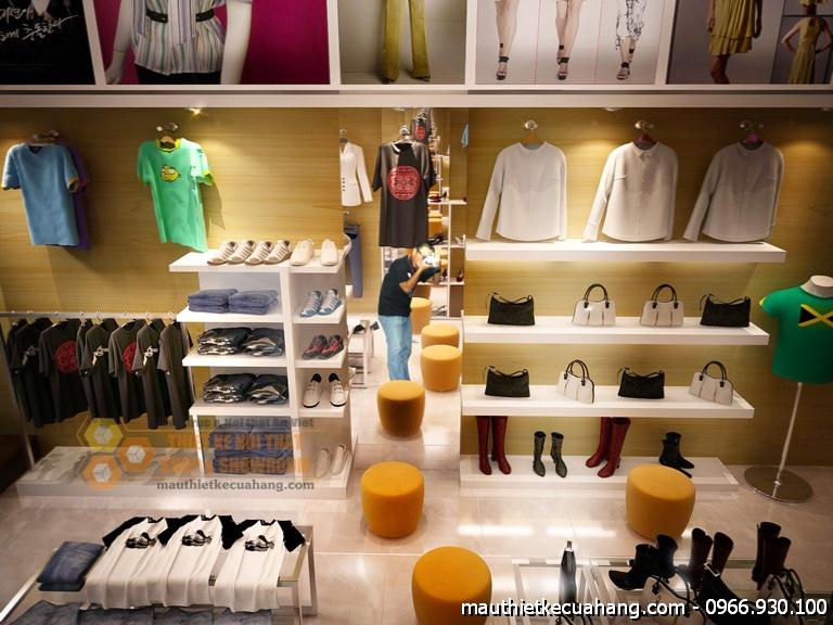 Mẫu thiết kế shop thời trang nữ 35m2 đẹp tại Bắc Giang