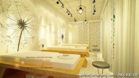 Thiết kế nội thất spa 60m2 Hồng An uy tín tại Hà Nội