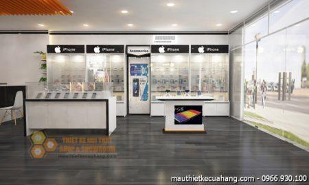 Thiết kế shop điện thoại 45m2 Apple Center tại Bình Phước