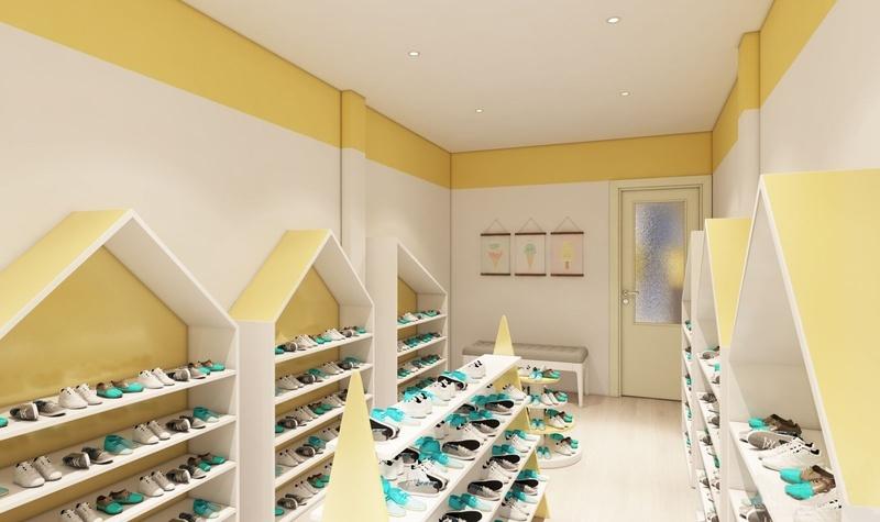 Thiết kế shop giầy của bé CỰC XINH diện tích 20m2 tại Hà Nội